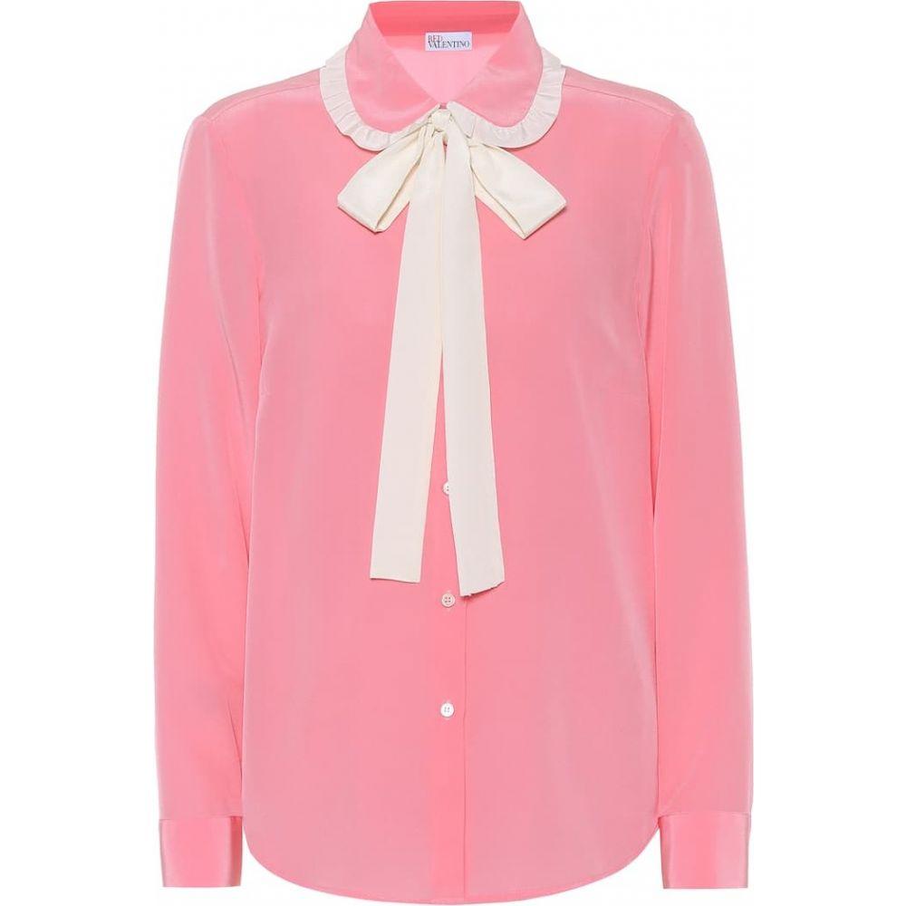 レッド ヴァレンティノ REDValentino レディース ブラウス・シャツ トップス【Silk crepe-de-chine shirt】Fancy Pink/Avorio