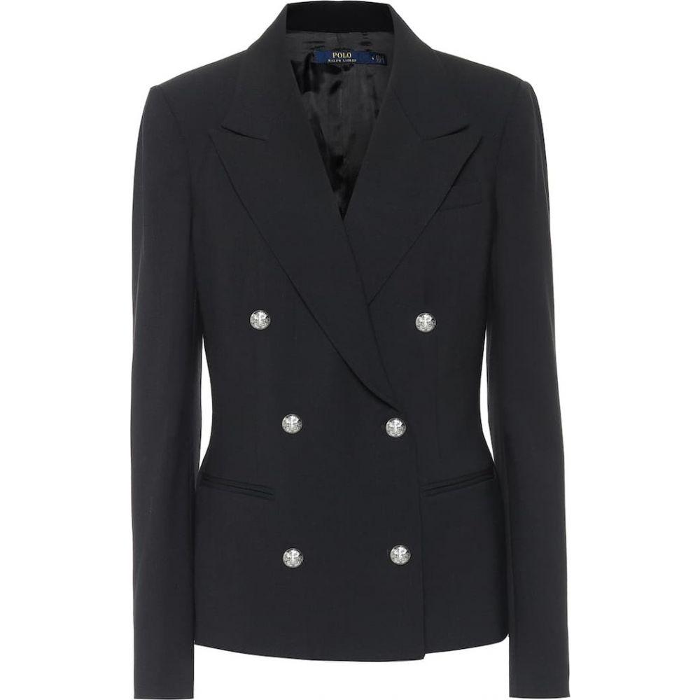 ラルフ ローレン Polo Ralph Lauren レディース スーツ・ジャケット アウター【Stretch-wool double-breasted blazer】Black