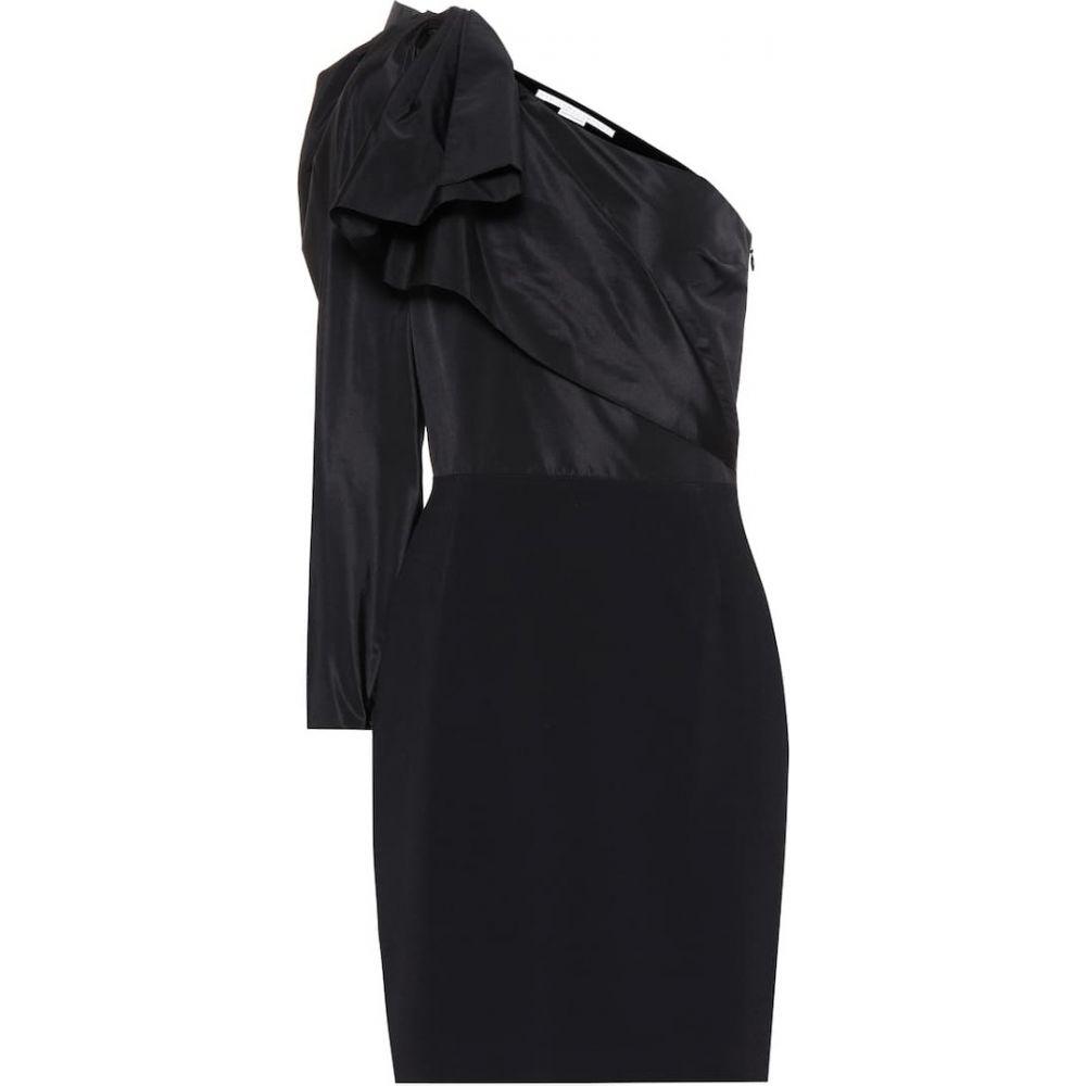ステラ マッカートニー Stella McCartney レディース ワンピース ワンショルダー ワンピース・ドレス【Taffeta one-shoulder minidress】Black
