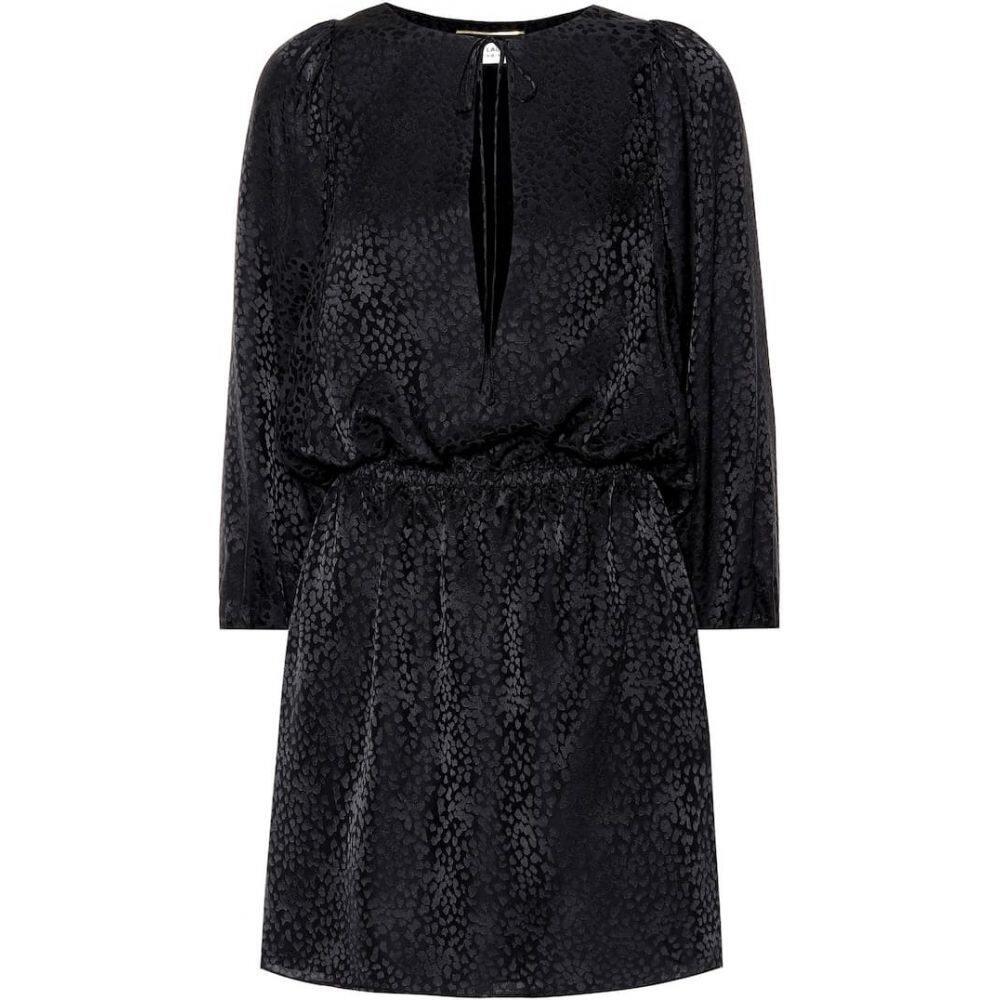 イヴ サンローラン Saint Laurent レディース ワンピース ワンピース・ドレス【Silk jacquard minidress】Black