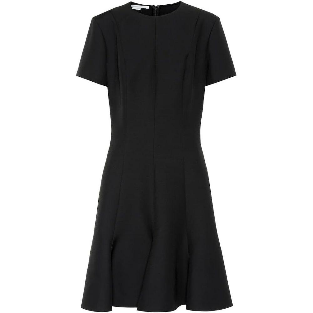 ステラ マッカートニー Stella McCartney レディース ワンピース ワンピース・ドレス【Wool-blend crepe dress】Black