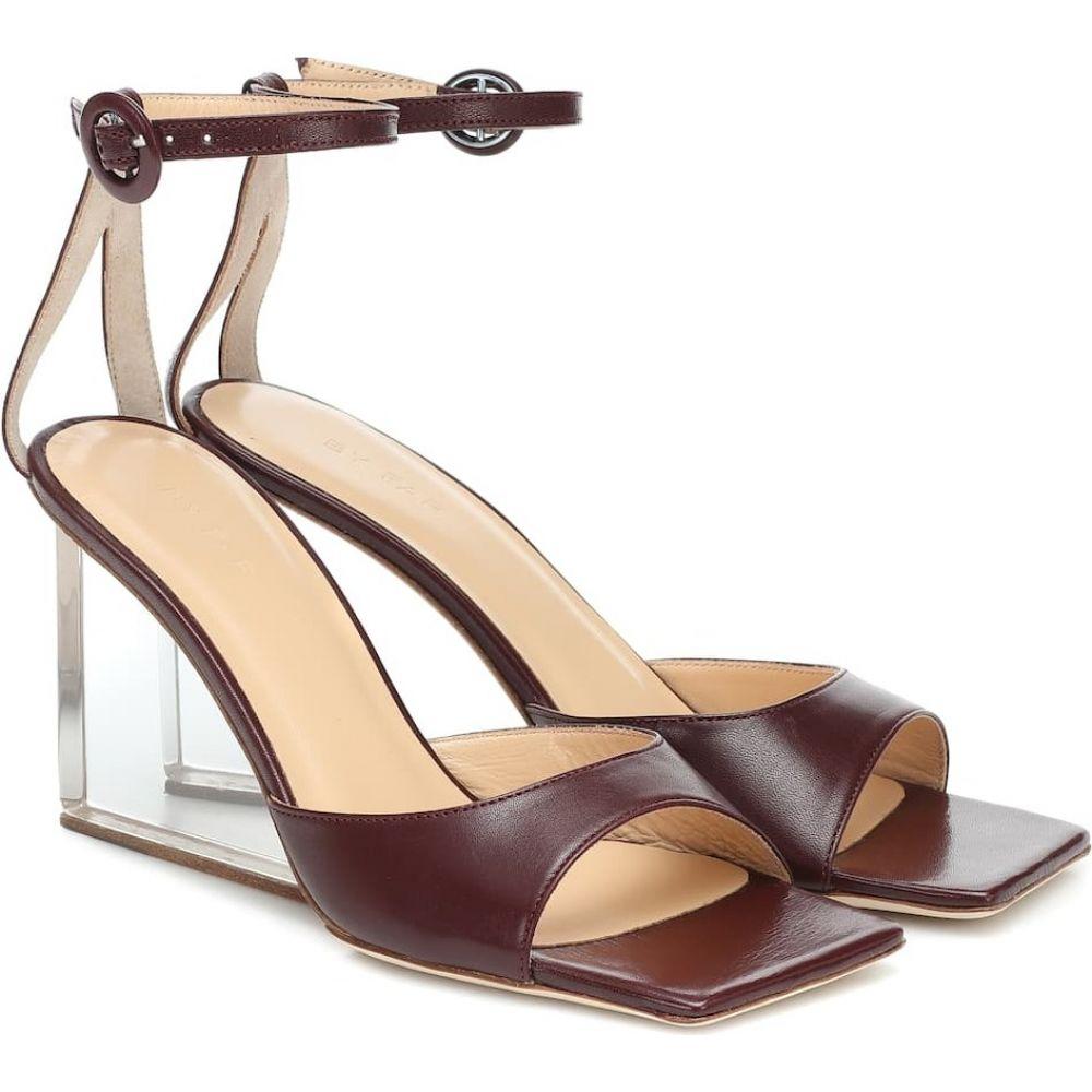 バイ ファー By Far レディース サンダル・ミュール ウェッジソール シューズ・靴【Dima leather wedge sandals】Bordeaux