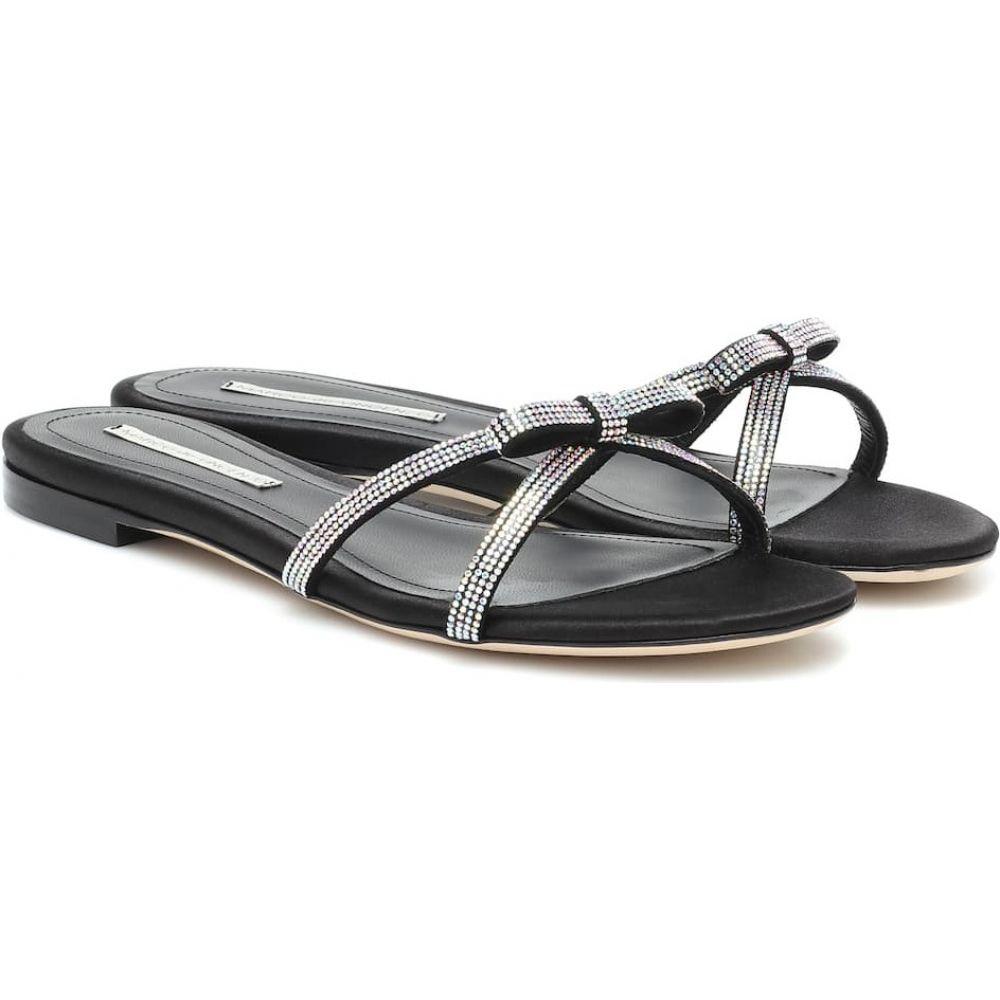 マルコデヴィンチェンツオ Marco De Vincenzo レディース サンダル・ミュール シューズ・靴【Embellished leather slides】Crystal