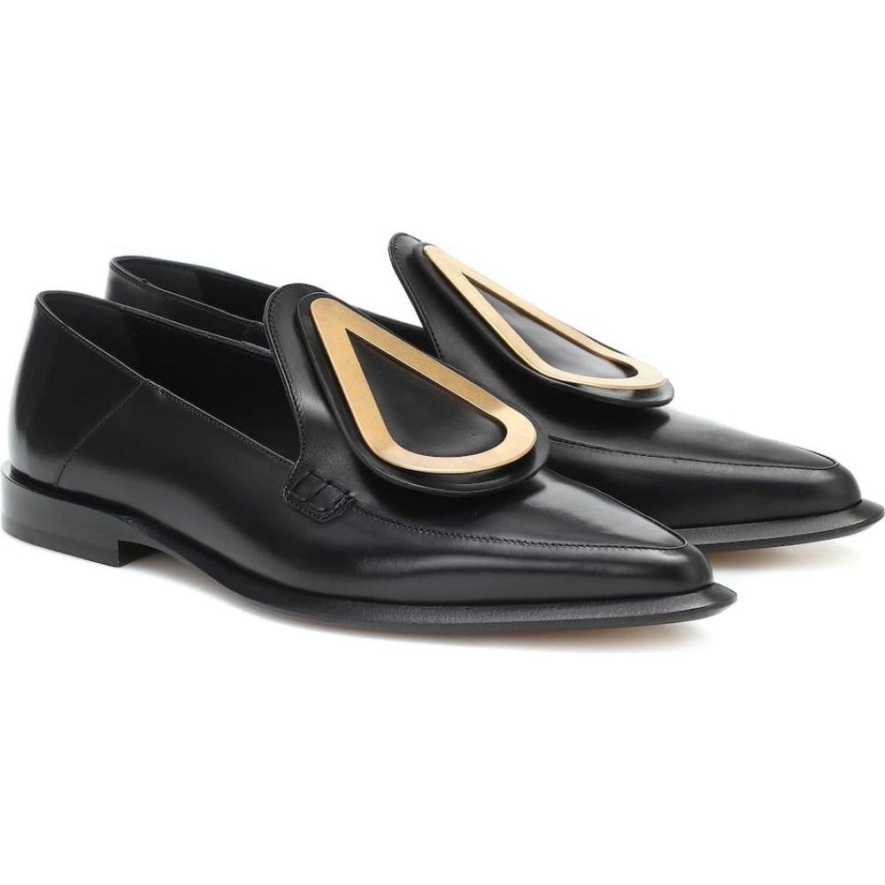 ロエベ Loewe レディース ローファー・オックスフォード シューズ・靴【Drop leather loafers】Black