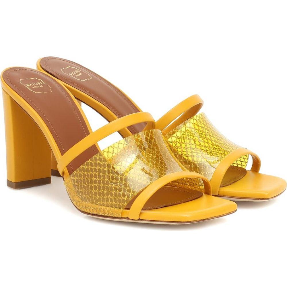 マローンスリアーズ Malone Souliers レディース サンダル・ミュール シューズ・靴【Demi 70 PVC and leather sandals】Yellow/Yellow