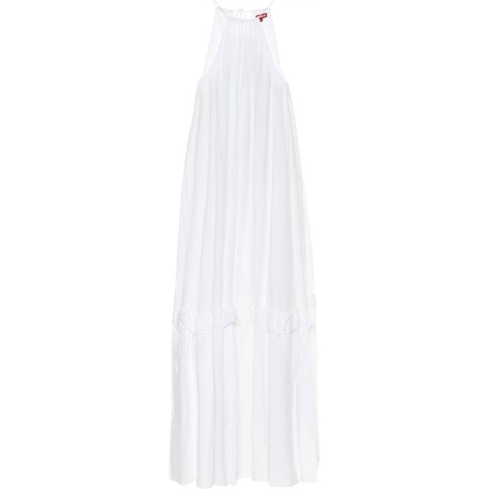 スタウド Staud レディース ワンピース マキシ丈 ワンピース・ドレス【Ina gauze maxi dress】White