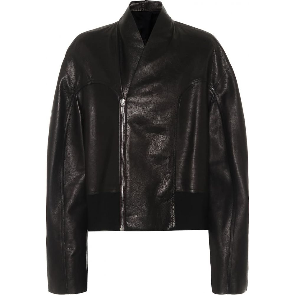 リック オウエンス Rick Owens レディース レザージャケット アウター【Tec leather jacket】Black