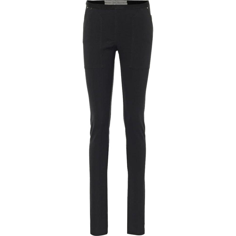 リック オウエンス Rick Owens レディース スパッツ・レギンス インナー・下着【Cotton-blend jersey leggings】Black