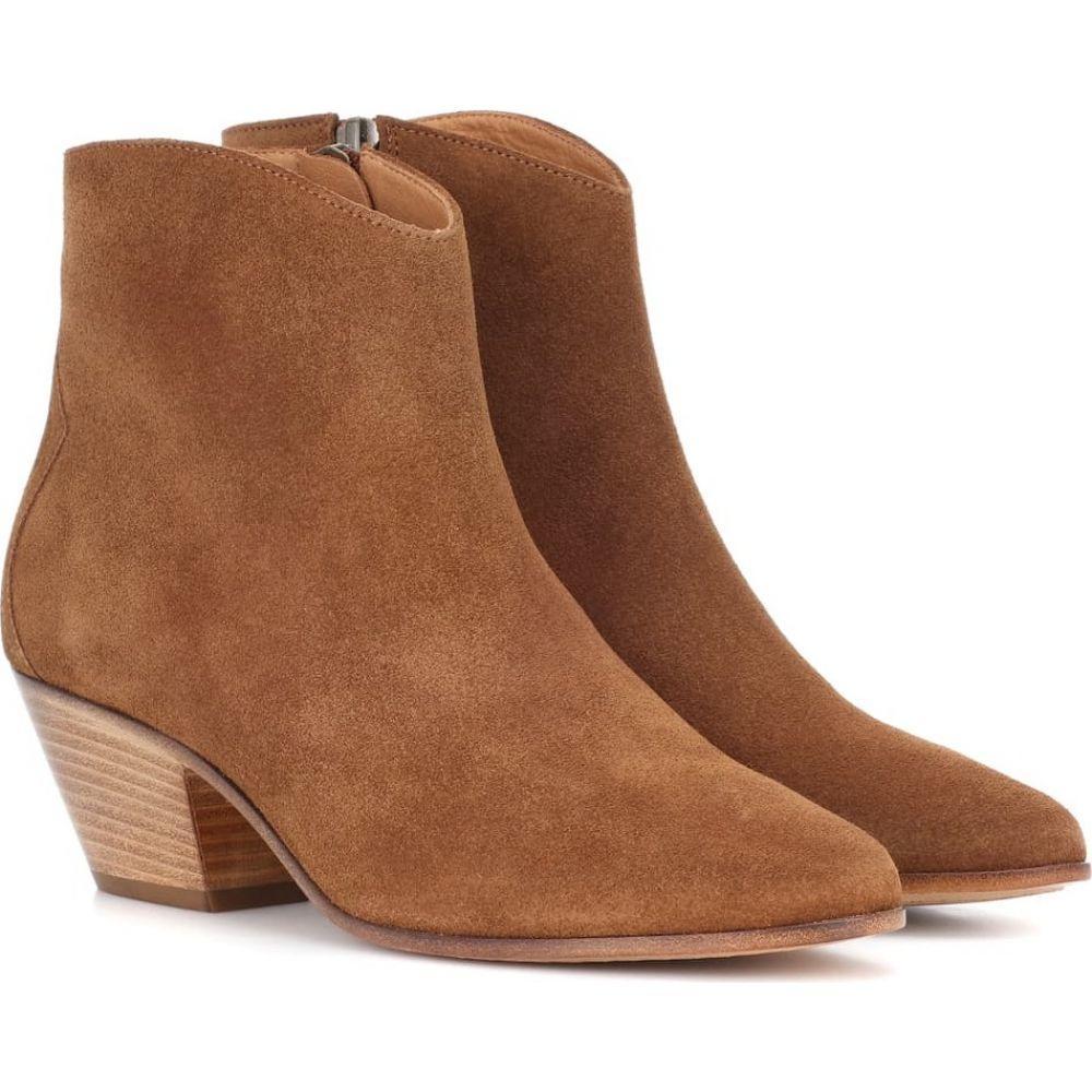 イザベル マラン Isabel Marant レディース ブーツ ショートブーツ シューズ・靴【Dacken suede ankle boots】Cognac