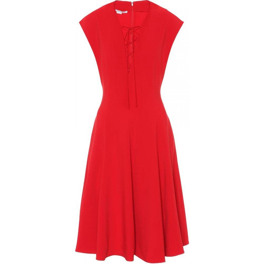 ステラ マッカートニー Stella McCartney レディース ワンピース レースアップ ワンピース・ドレス【Lace-up crepe dress】Lover Red