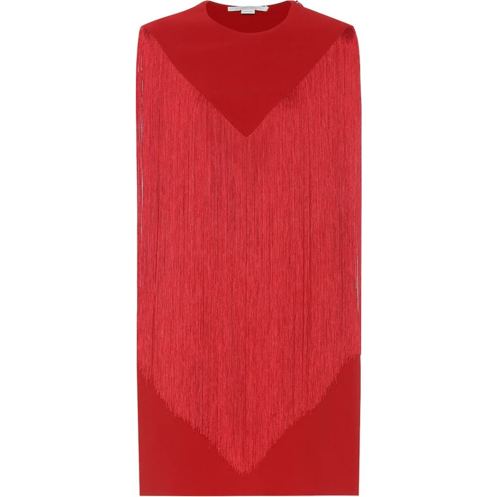 ステラ マッカートニー Stella McCartney レディース ワンピース ワンピース・ドレス【Fringed crepe minidress】red romance