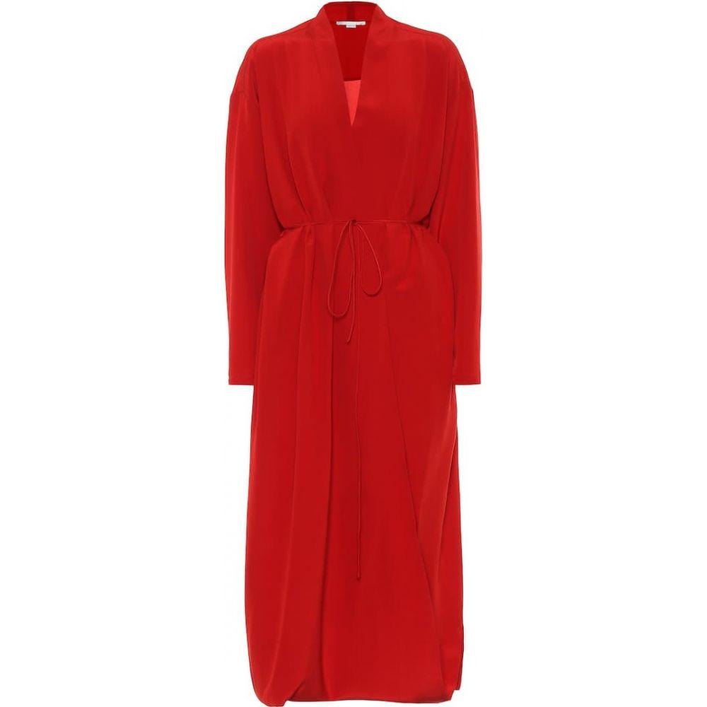 ステラ マッカートニー Stella McCartney レディース ワンピース ミドル丈 ワンピース・ドレス【Silk midi dress】red romance
