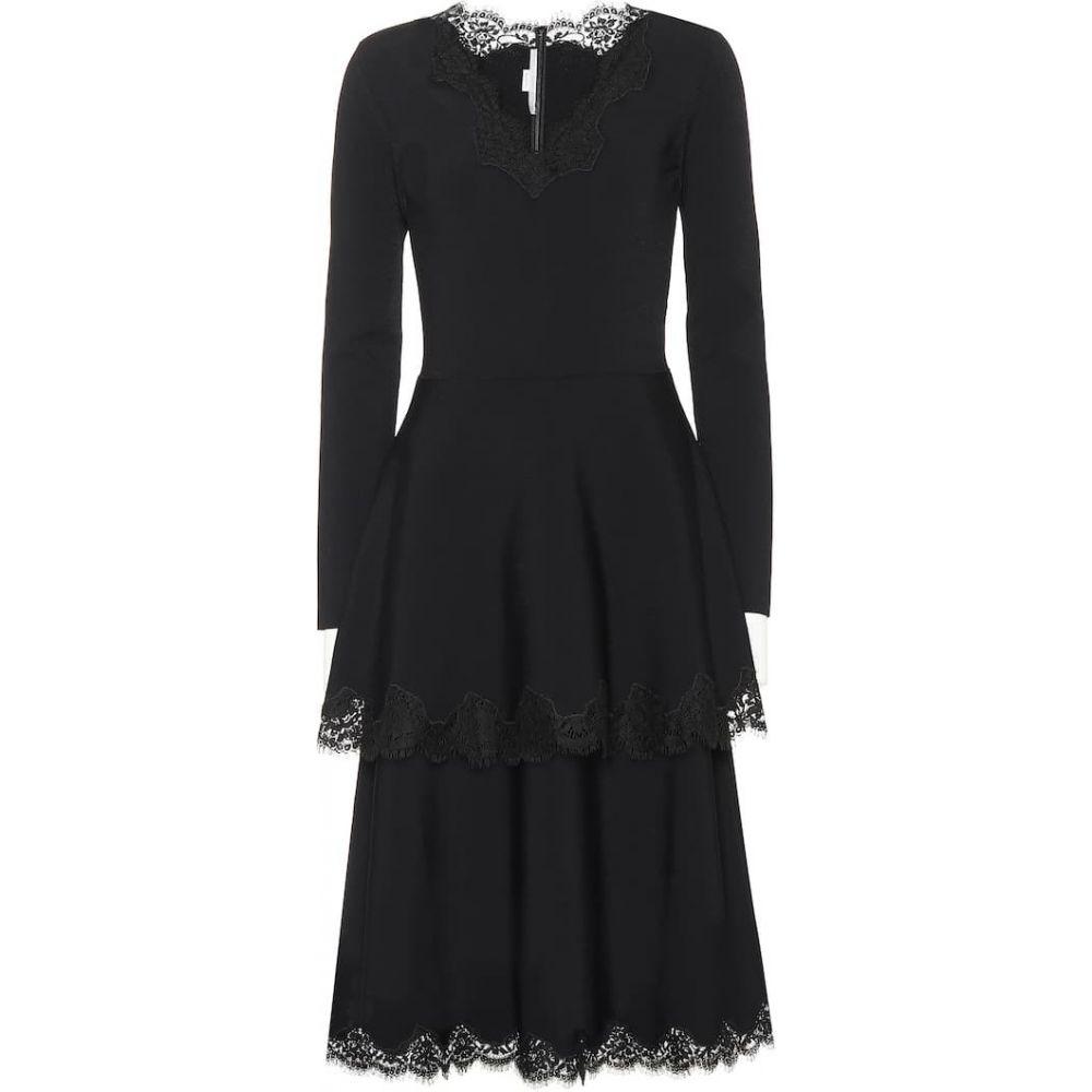 ステラ マッカートニー Stella McCartney レディース ワンピース ワンピース・ドレス【Lace-trimmed jersey dress】Black