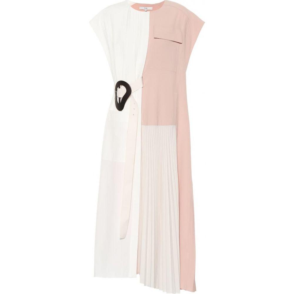 ティビ Tibi レディース ワンピース ワンピース・ドレス【Edith pleated crepe dress】Blush Multi