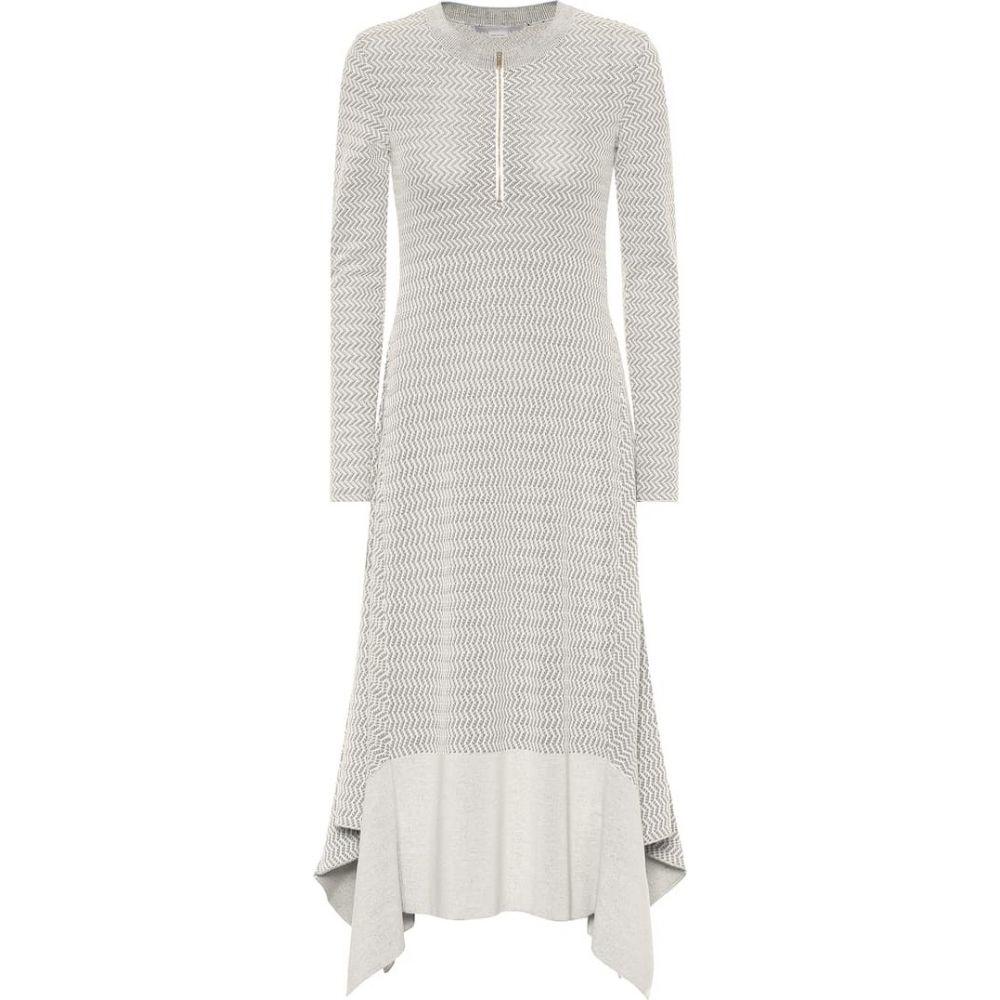 ステラ マッカートニー Stella McCartney レディース ワンピース ワンピース・ドレス【Wool-blend knit dress】White/Black