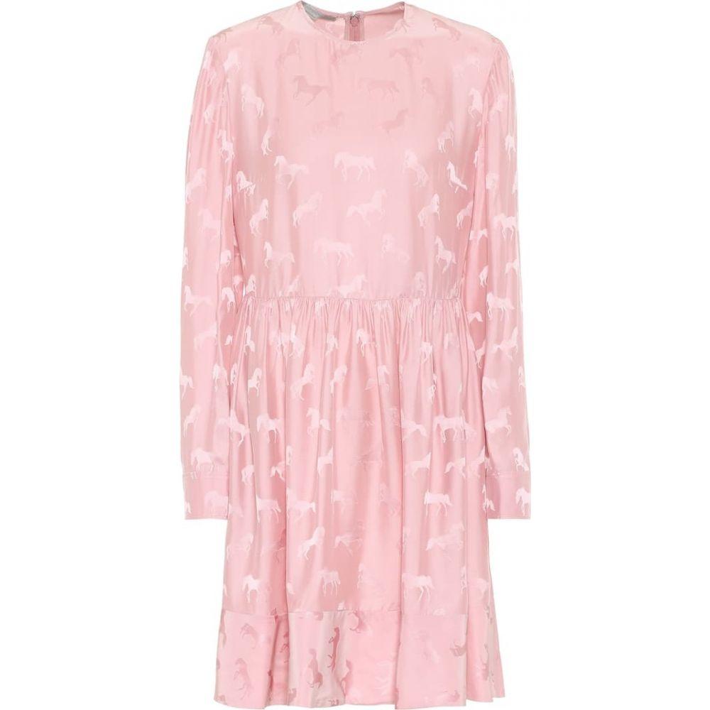 ステラ マッカートニー Stella McCartney レディース ワンピース ワンピース・ドレス【Silk-blend jacquard dress】Rose Mole
