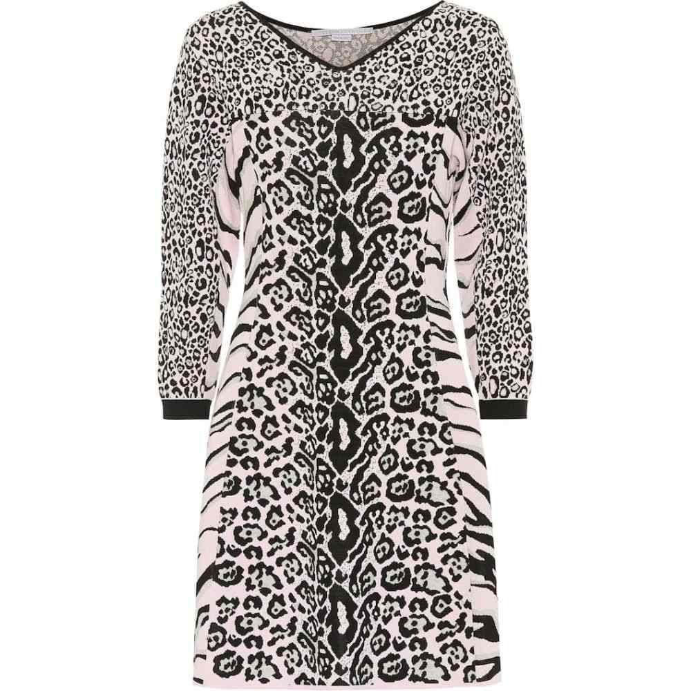 ステラ マッカートニー Stella McCartney レディース ワンピース ワンピース・ドレス【Animal-motif dress】Pink Black