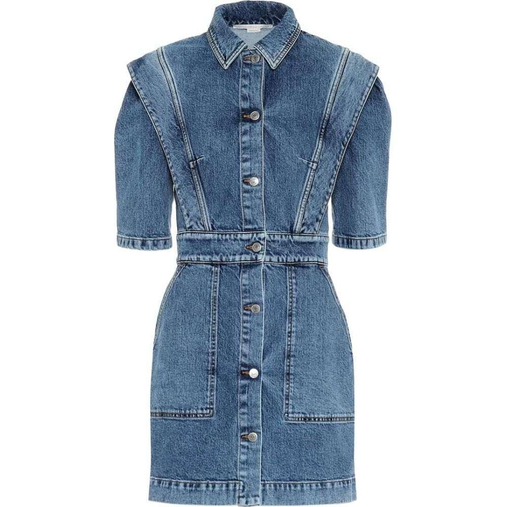 ステラ マッカートニー Stella McCartney レディース ワンピース ワンピース・ドレス【Stretch-denim dress】Vintage Indigo