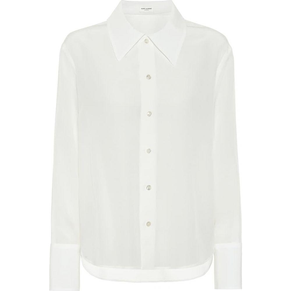 イヴ サンローラン Saint Laurent レディース ブラウス・シャツ トップス【Silk-satin shirt】Shell