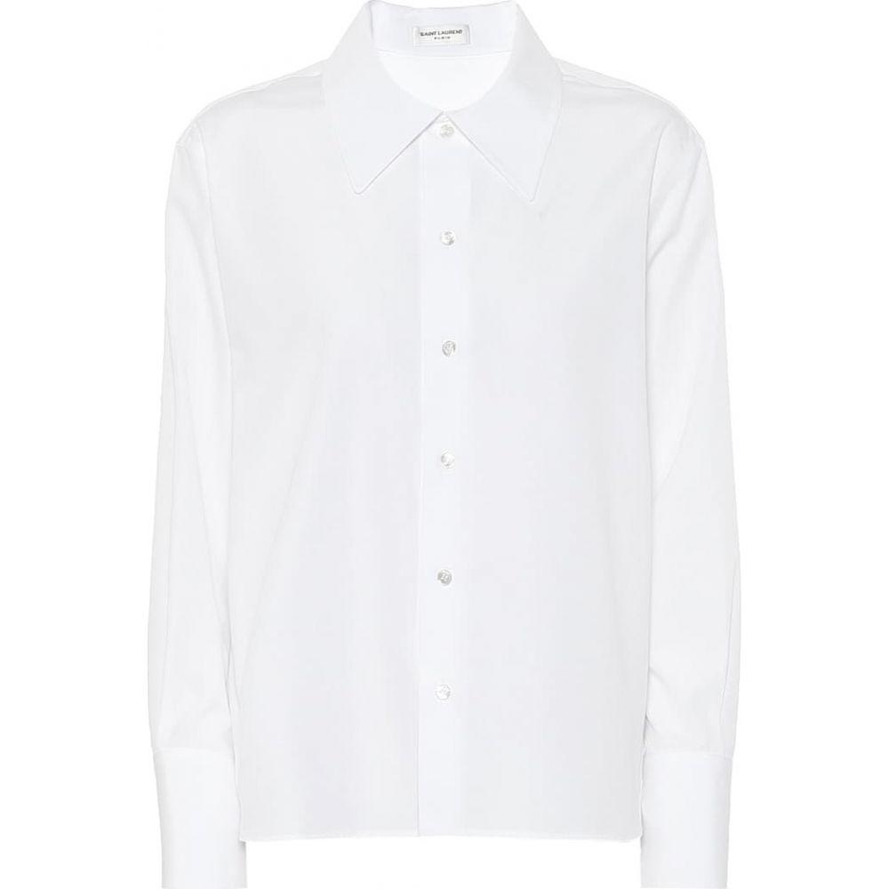 イヴ サンローラン Saint Laurent レディース ブラウス・シャツ トップス【Cotton-poplin shirt】White
