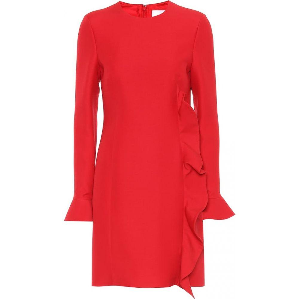 ヴァレンティノ Valentino レディース ワンピース ワンピース・ドレス【Virgin wool and silk dress】Red