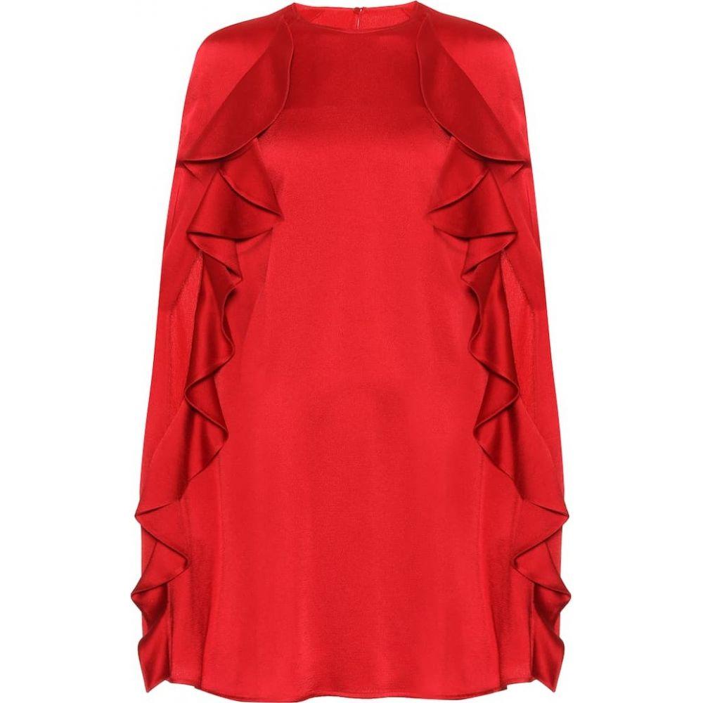 ヴァレンティノ Valentino レディース ワンピース ワンピース・ドレス【Crepe cape dress】Rosso V