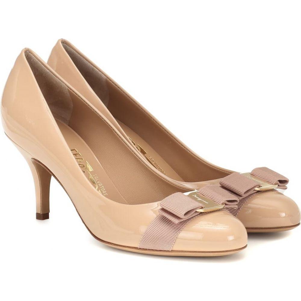 サルヴァトーレ フェラガモ Salvatore Ferragamo レディース パンプス シューズ・靴【Carla 70 patent-leather pumps】new bisque