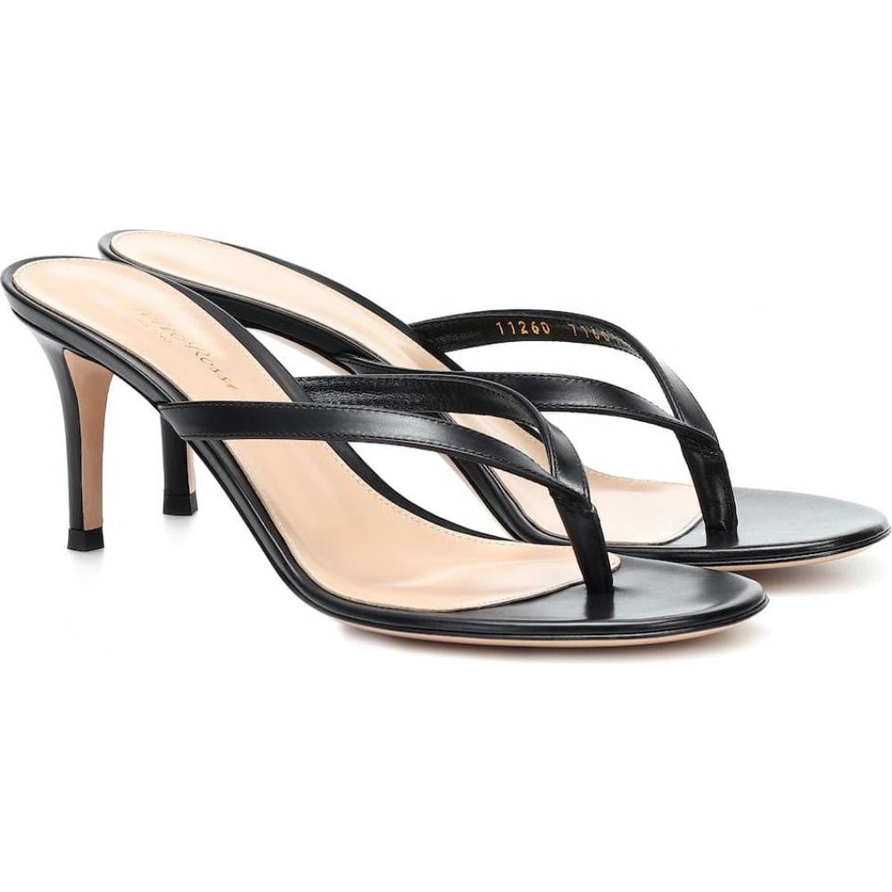 ジャンヴィト ロッシ Gianvito Rossi レディース サンダル・ミュール シューズ・靴【Calypso leather thong sandals】Black:フェルマート