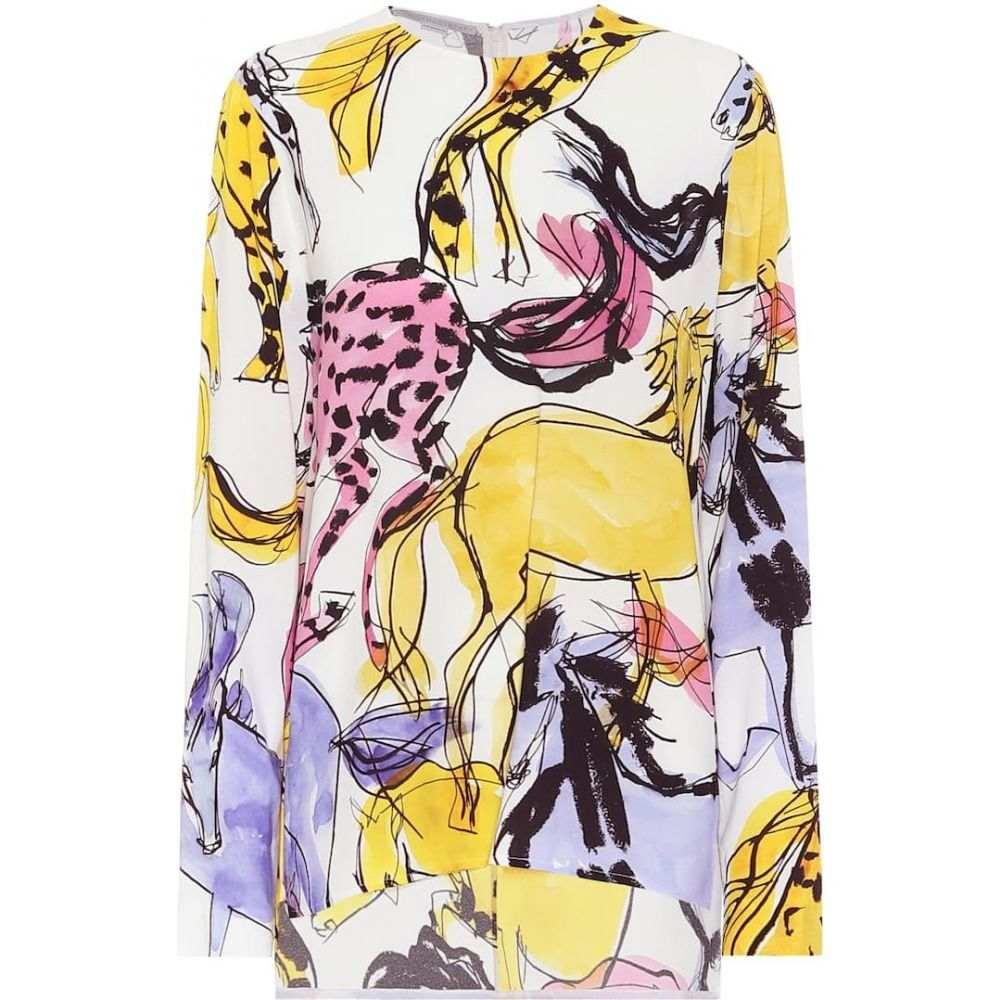 ステラ マッカートニー Stella McCartney レディース トップス 【Horse-print stretch-crepe top】Multicolor