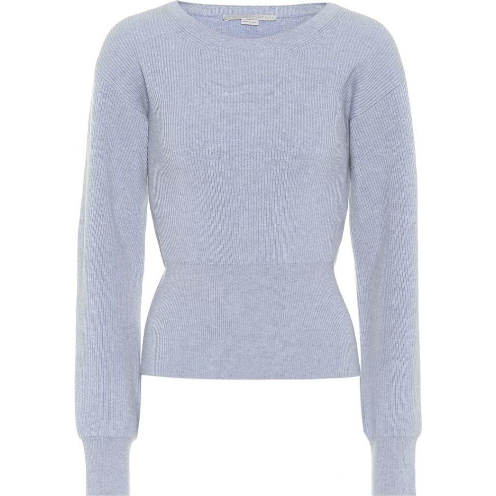 ステラ マッカートニー Stella McCartney レディース ニット・セーター トップス【Cashmere and wool sweater】Angel Blue