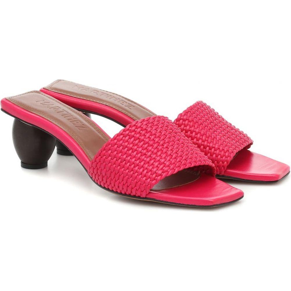スリアーズ マルティネス Souliers Martinez レディース サンダル・ミュール シューズ・靴【Celia leather sandals】Hot Pink