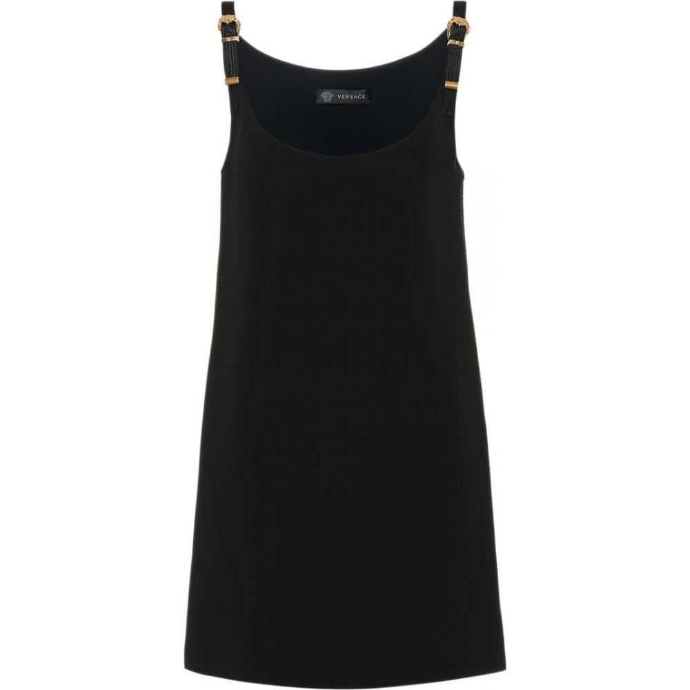 ヴェルサーチ Versace レディース ワンピース ワンピース・ドレス【Silk crepe minidress】Nero