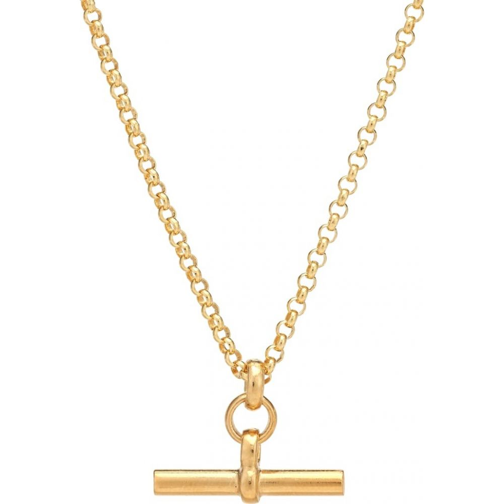 Tilly Sveaas レディース ネックレス ジュエリー・アクセサリー【Small T-Bar 23.5kt gold-plated necklace】