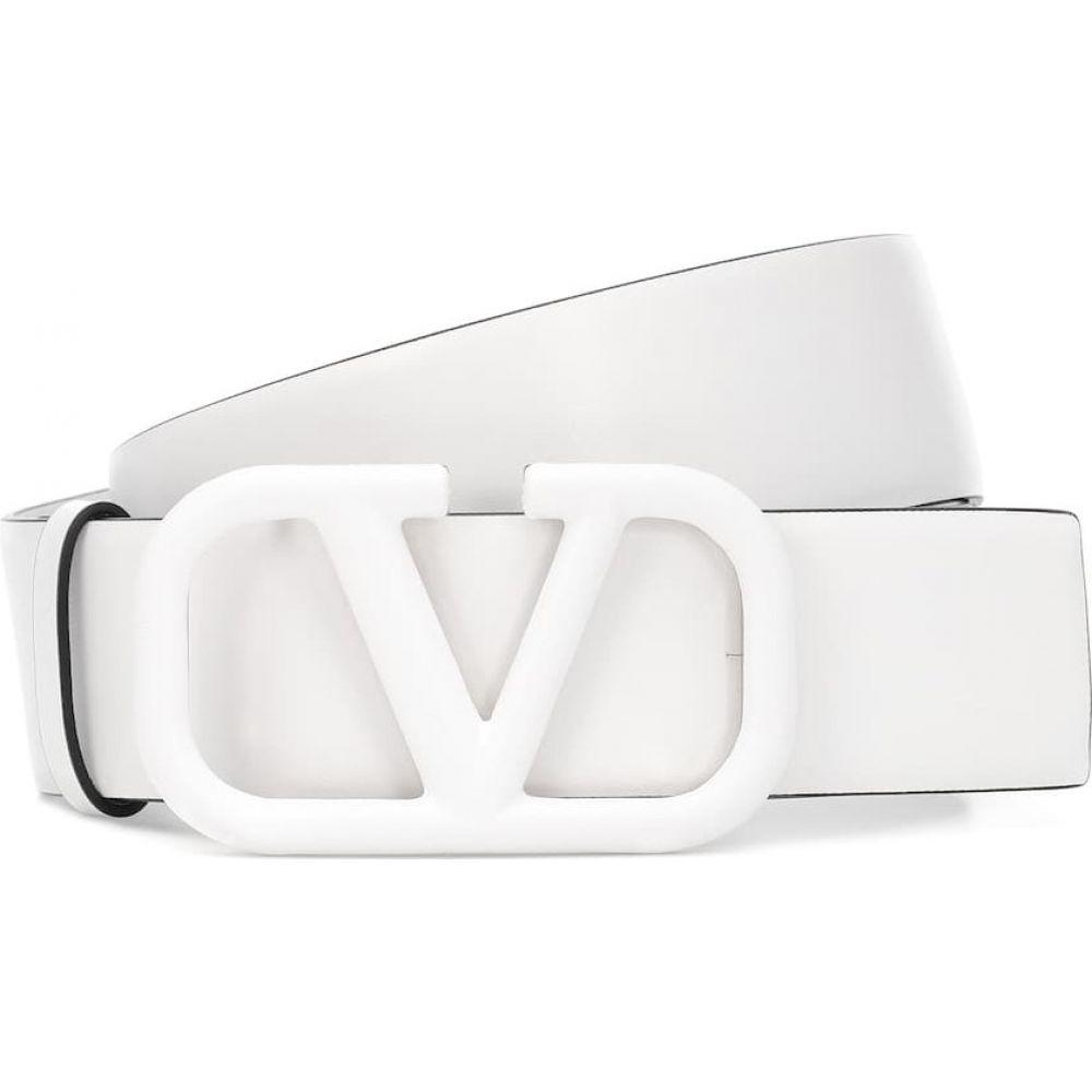 ヴァレンティノ Valentino レディース ベルト 【Garavani VLOGO leather belt】Bianco
