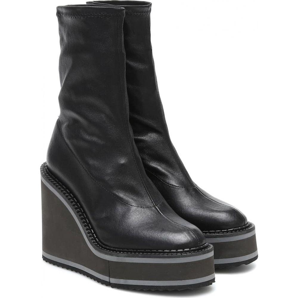ロベール クレジュリー Clergerie レディース ブーツ ショートブーツ ウェッジソール シューズ・靴【Bliss leather wedge ankle boots】Blk Npstr
