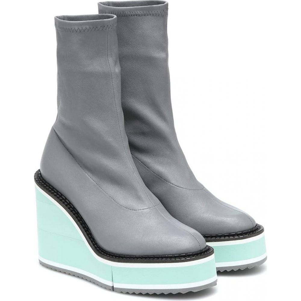 ロベール クレジュリー Clergerie レディース ブーツ シューズ・靴【Bliss leather platform boots】Grey Napstr