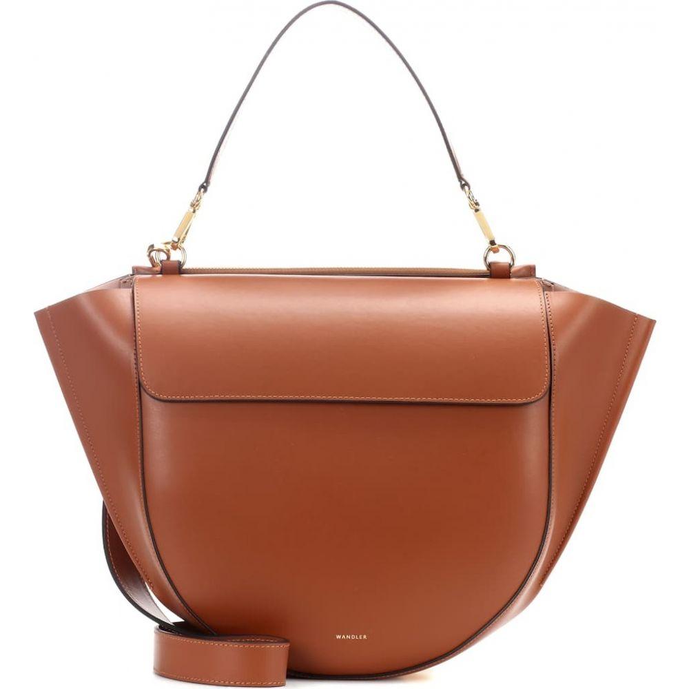ワンダラー Wandler レディース ショルダーバッグ バッグ【Hortensia Big leather shoulder bag】Tan