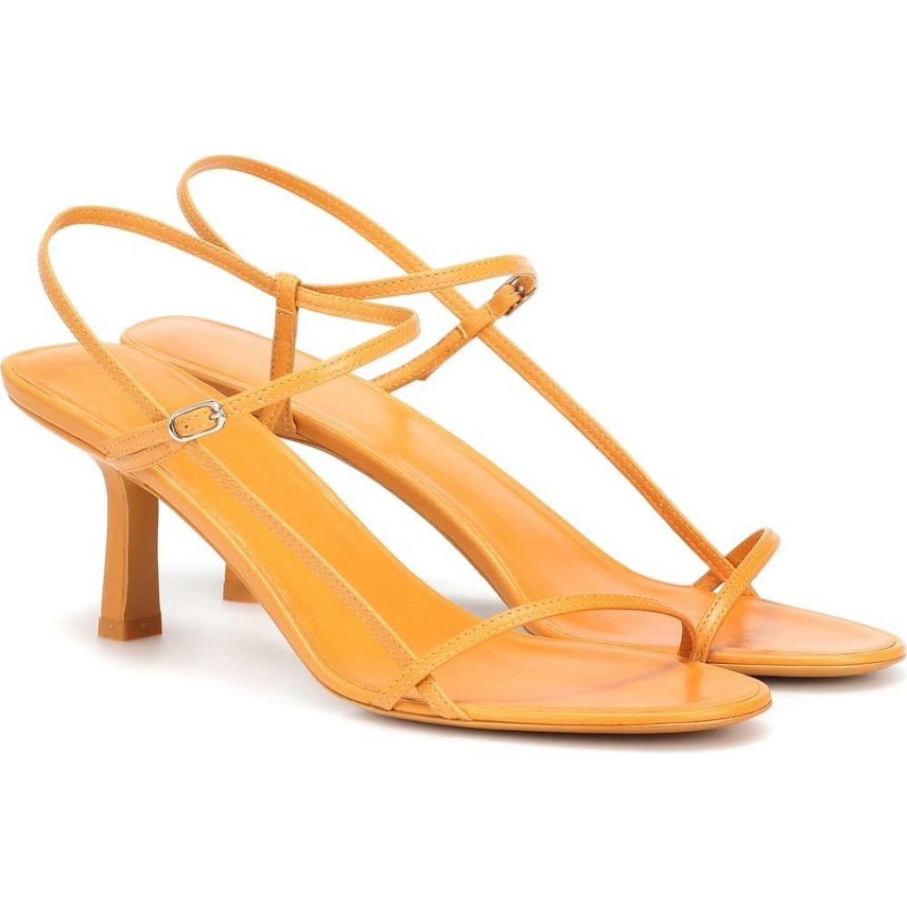 ザ ロウ The Row レディース サンダル・ミュール シューズ・靴【Bare leather sandals】Chestnut