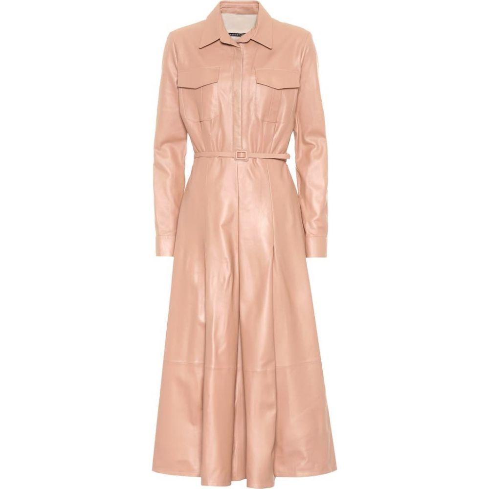 ゼイネプアルケイ Zeynep Arcay レディース ワンピース ミドル丈 ワンピース・ドレス【Leather midi dress】Pink