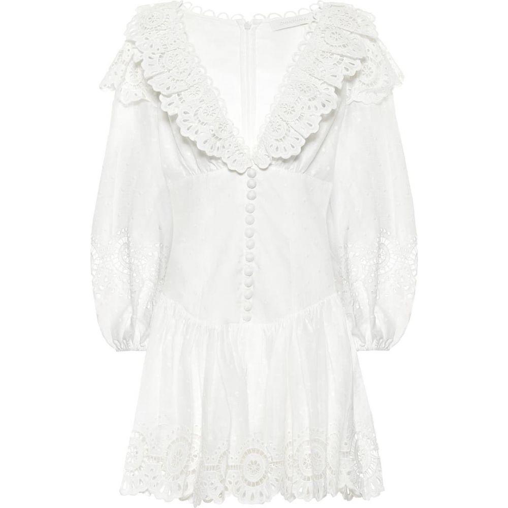 ジマーマン Zimmermann レディース ワンピース ワンピース・ドレス【Bellitude linen minidress】Ivory