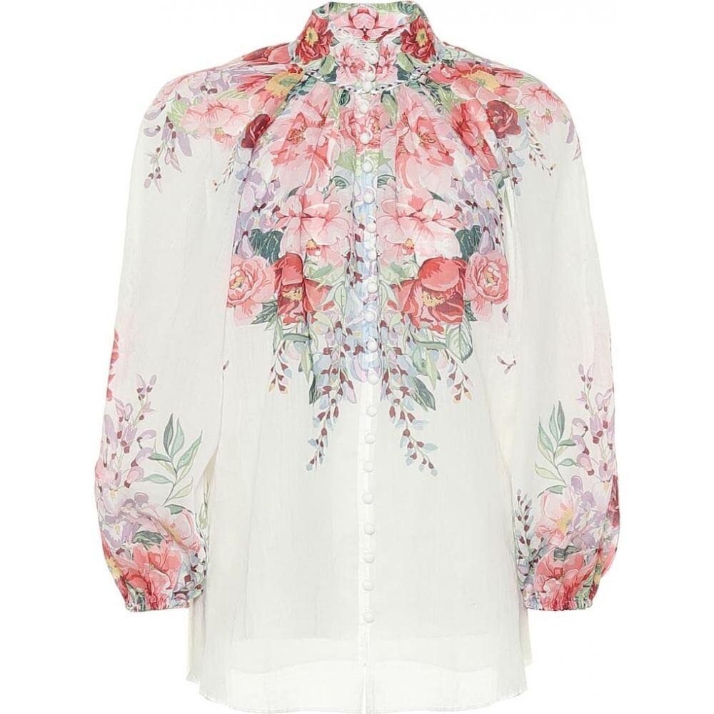ジマーマン Zimmermann レディース ブラウス・シャツ トップス【Bellitude floral ramie blouse】Ivory Floral