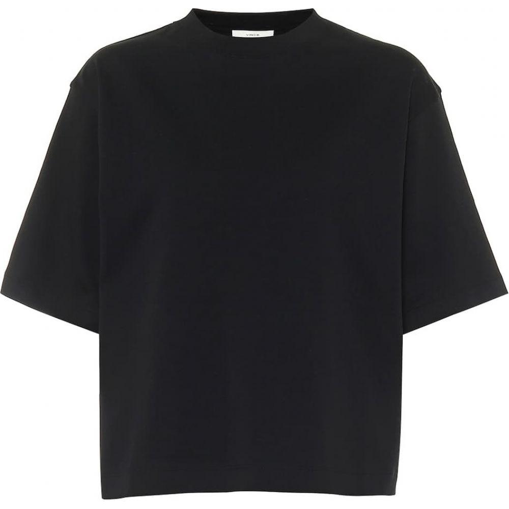 ヴィンス Vince レディース Tシャツ トップス【Cotton-jersey T-shirt】Black