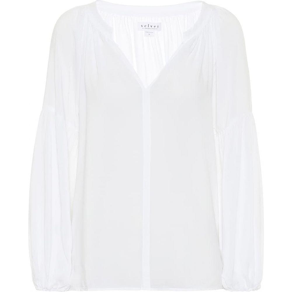 ベルベット グラハム&スペンサー Velvet レディース ブラウス・シャツ トップス【Elaine blouse】White