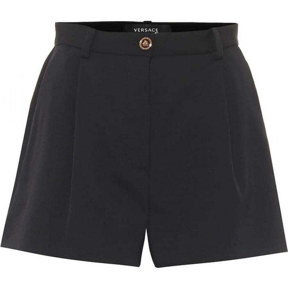 ヴェルサーチ Versace レディース ショートパンツ ボトムス・パンツ【High-rise stretch-wool shorts】Nero