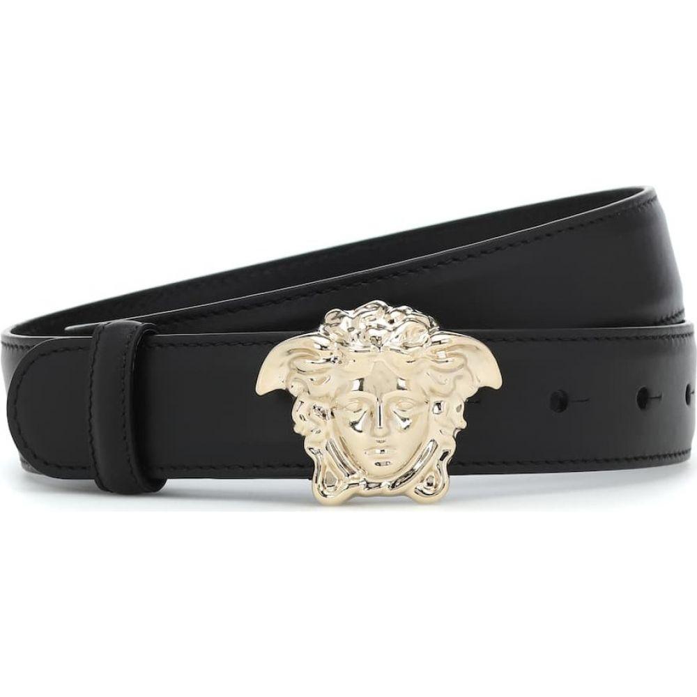 ヴェルサーチ Versace レディース ベルト メデューサ【Medusa leather belt】Nero/Oro Chairo