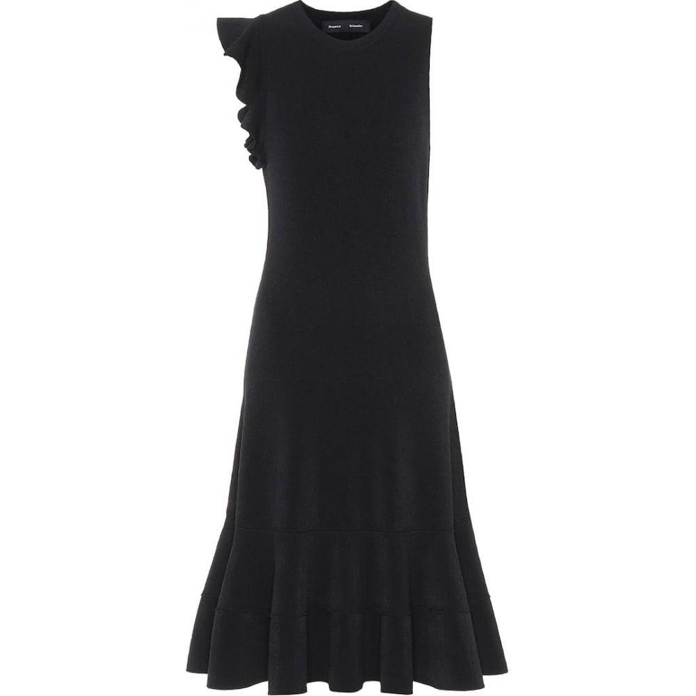 プロエンザ スクーラー Proenza Schouler レディース ワンピース ワンピース・ドレス【Crepe knit dress】Black