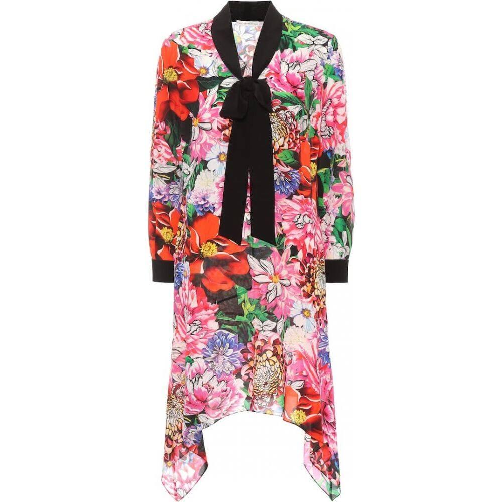 メアリー カトランズ Mary Katrantzou レディース ワンピース ワンピース・ドレス【Hearts floral-printed silk dress】Paint by Numbers Red