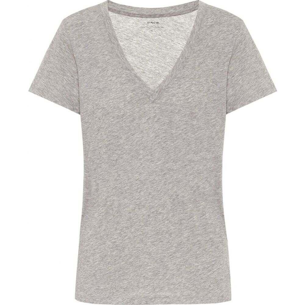 ヴィンス Vince レディース Tシャツ トップス【Cotton-jersey T-shirt】H Grey