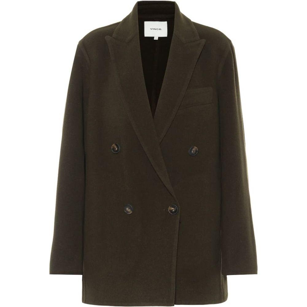 ヴィンス Vince レディース スーツ・ジャケット アウター【Wool-blend blazer】Dk Pine