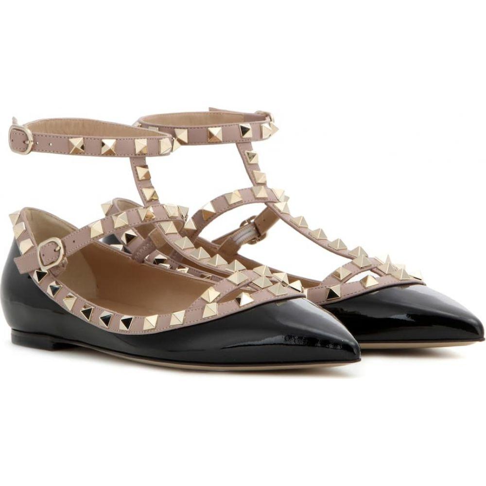 ヴァレンティノ Valentino レディース スリッポン・フラット シューズ・靴【Garavani Rockstud patent leather ballet flats】